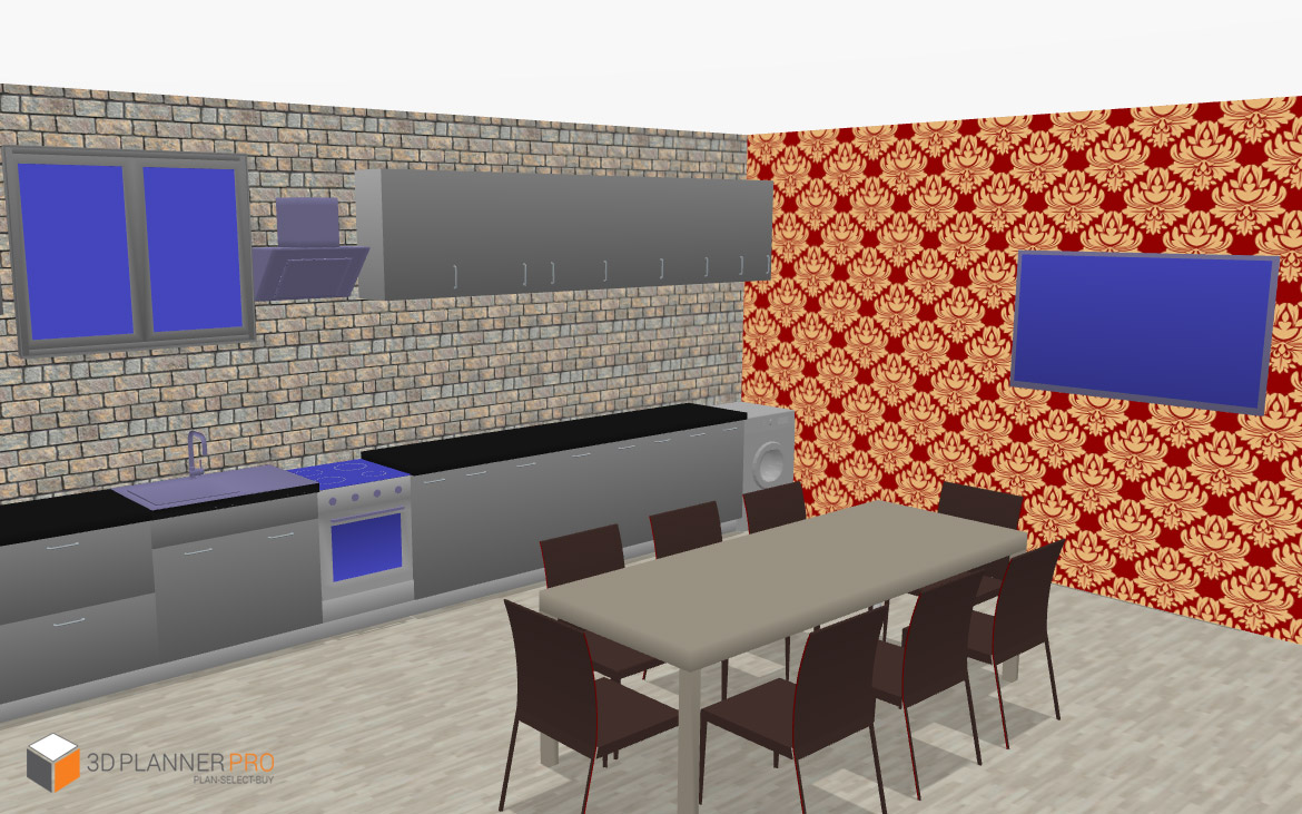 3D Kitchen Design using 3D Planner Pro